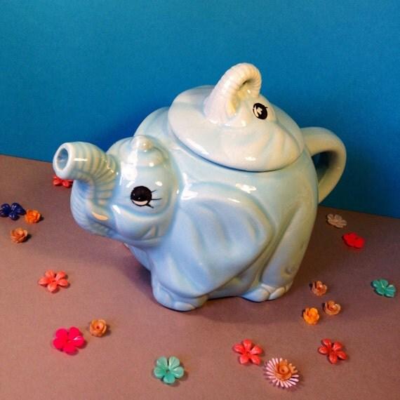 Vintage elephant teapot novelty teapot ceramic teapot - Elephant shaped teapot ...