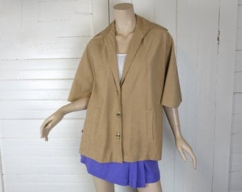 70s Cape in Tan Faux Suede- 1970s Cape- Boho / Hippie- Biege / Light Brown