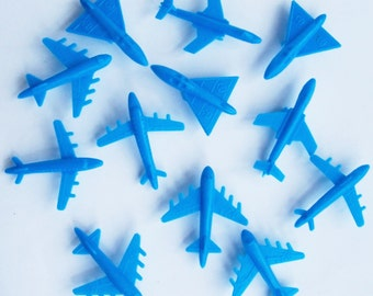 12 Bluel Airplane Cupcake Toppers