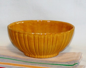 Buterscotch Haeger Planter, Haeger 4020, Vintage Pottery, Ceramic Bowl