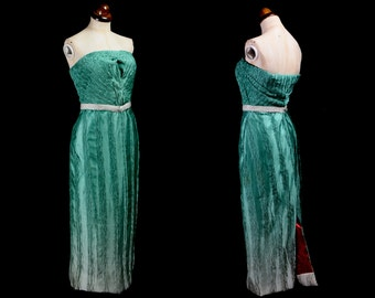 Green Ombre Hourglass Strapless Gown  - Medium - FREE SHIPPING WORLDWIDE