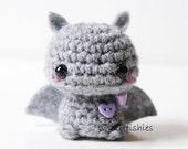 Baby Gray Bat - Kawaii Mini Amigurumi Plush