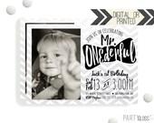 Mr. ONEderful Birthday Invitation   Digital or Printed   Chevron Invitation   Mr. Wonderful Invitation    Onederful Invite   Little Man