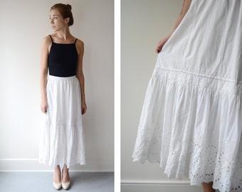 1910 Eyelet Lace Lawn Skirt - M