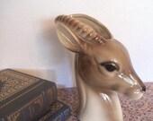 Vintage Royal Copley Gazelle ~ Porcelain Head Vase ~ Animal Planter ~ Man Cave Exotic