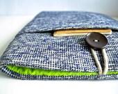 Blue + Green Tablet Gear Padded Protects iPad Air, iPad Mini, Nexus 8, Galaxy Tab, Custom Fit Tablet Sleeve Case