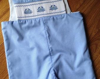 Toddler, Infant, little boy's hand smocked jon jon suit - Sz 3t