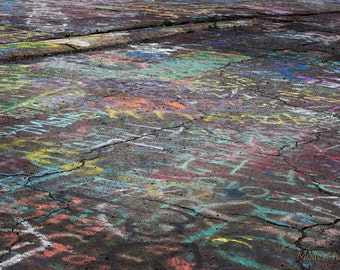 Street Photography, Graffiti Highway Photo in Centralia PA, Colorful Urban Art Landscape