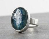 Rings, Blue Kyanite, Silver Ring, Kyanite Ring, Statement Ring, Sterling Silver Kyanite Ring, One of a Kind