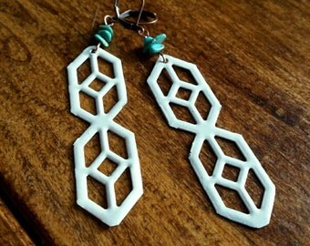 Geometric Window Earrings