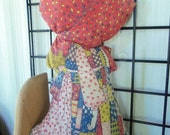 70% OFF CLEARANCE 70s Holly Hobbie Handmade Cloth Doll distressed
