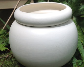 African Violet pot, large, round, matte, white, self watering, modern, minimalist, Violet pot