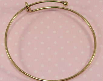 1 BRONZE Bangle Bracelet Blank 7 3/4 inch Expandable Jewelry Supplies Great for Personalized Bridesmaids & Best Friend Gifts Add Charms Gems