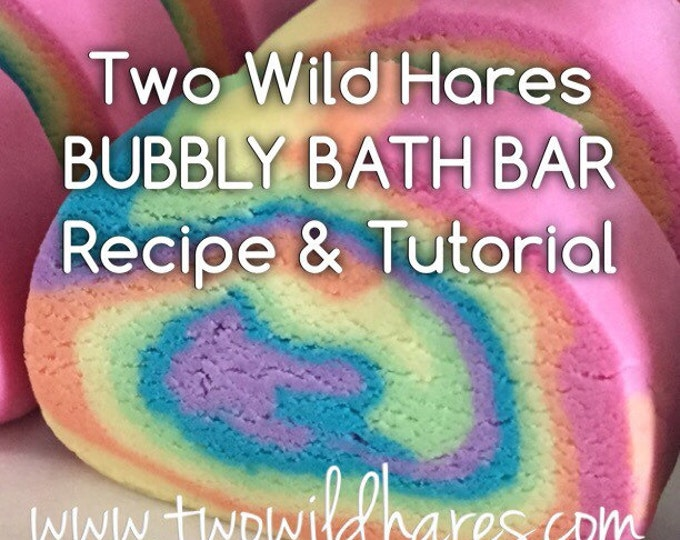 DIY Bubbly Bath Bar / Solid Bubble Bath Recipe- FOOLPROOF!