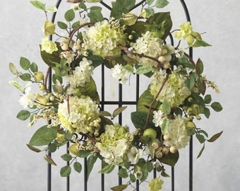 Summer Bliss - Hydrangea and Berry Wreath, Summer Wreath, Hydrangea Wreath, Wedding Wreath, Bridal Decor, Spring, Mother's Day, Easter