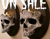 GREY Skull Sconces Pre Order