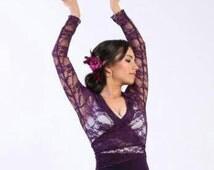 NEW *** Flamenco blouse  ,Flamencita design, Professional Flamenco top. Size M