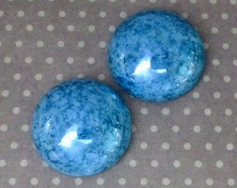 High Quality Czech Glass Cabochon 18mm Turquoise Lumi