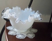 Vintage Home Serving Bowl Fenton Silvercrest Candy Bowl Collectible Glass