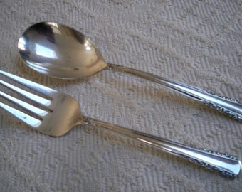 Vintage Home Dining Serving Flatware Holmes & Edwards IS Fork and Spoon May Queen