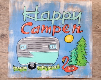 Happy Camper Painting