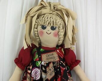 Plastic Bag Holder Doll, Cajun Cooking, Grocery Bag Holder, Primitive Doll, Kitchen Storage, Kitchen Doll, Creole Food, Chili Pepper