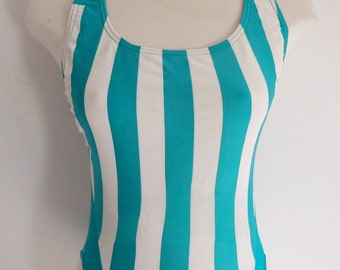 Womens Bathing Suit Vintage Striped