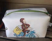 Curious George Zipper Pouch Recycled