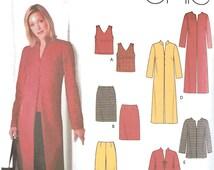 Simplicity 5311 Sewing Pattern, 20-28, Ladies Wardrobe, Top, Skirt, Pants, Coat, Jacket, Tote
