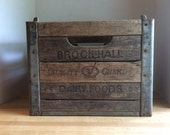 Vintage 1966 Wooden Milk Bottle Crate #5