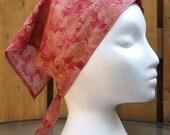Triangle Kerchief, Adult Triangle Head Scarf, Cotton Bandana