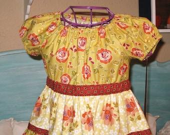 Girls Fall Holiday Dress ready to ship size 2