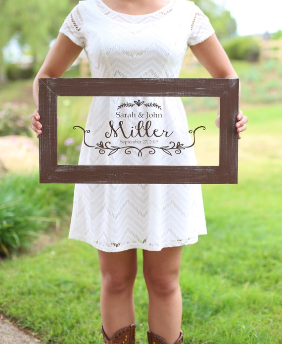 Personalized Calligraphy Wedding Sign Bridal By Braggingbags