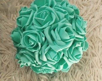 Mint Green Kissing Ball Rose Pomander
