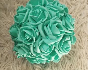 Mint Green Kissing Ball Rose Pomander