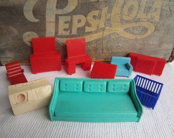 Vintage 1950s 1960s Superior Marx Dollhouse Furniture