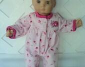 Bitty  Baby Girl  Cute Lady Bug Pajama,  Sleeper , Doll Clothes