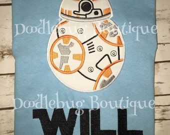 Star Wars BB8 shirt with name