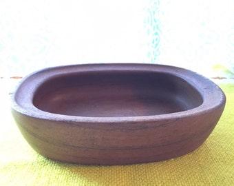 Vintage Nissen Oblong Teak Small Bowl