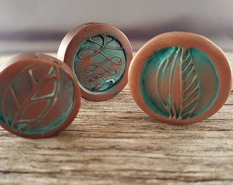 Fat Copper Disks Clay Beads