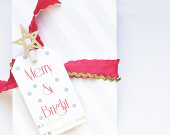 Christmas Printable Gift Tags |  Instant Download