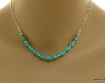 Turquoise Necklace in Sterling Silver
