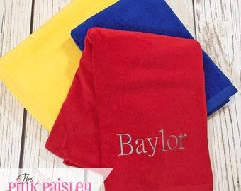 Personalized Beach Towel    Monogram Beach Towel   Boy Beach Towel