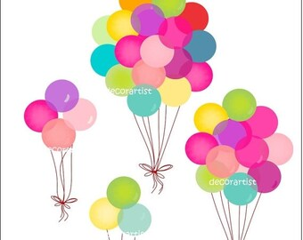 ON SALE Digital clipart.for all use,Balloons 2 , INSTANT Download