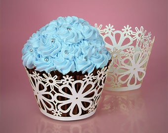 Flowers Cupcake Wrap- 24ct