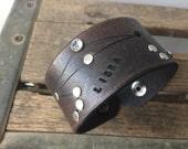 Leather zodiac cuff bracelet- Libra