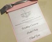 Custom Layered Wedding Programs