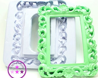 Frame Mold Large Rectangle Frame Mold; Silicone Rubber