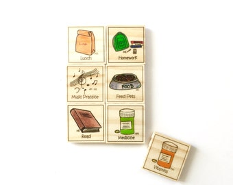 Growing Up Chore Magnet Set of 6 - Chore Magnets