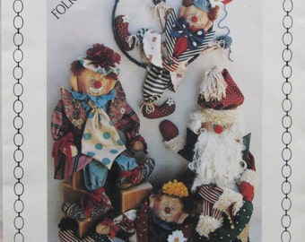 Emmett/18-15-13 in Santra Claus and Clowns/Uncut Craft Sewing Pattern by Keeping You In Stitches/1990/Dolls